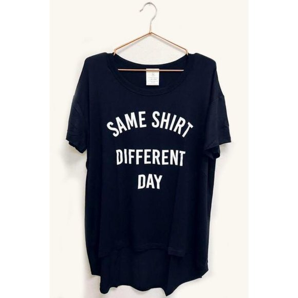 Tops - Same Shirt Different Day Oversized Graphic Tee